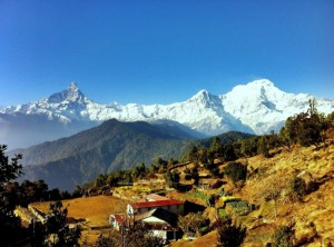 View of Mount Machhapuchare (Fish Tail) from Australian Camp